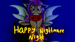 Size: 1280x720 | Tagged: artist:jbond, bat pony, cute, flutterbat, fluttershy, halloween, holiday, looking at you, mouth hold, nightmare night, pony, postcard, pumpkin bucket, race swap, safe, shyabates, shyabetes, solo