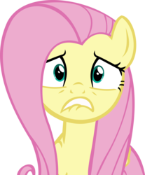 Size: 10197x12338 | Tagged: safe, artist:cyanlightning, fluttershy, buckball season, .svg available, absurd resolution, anxiety, female, simple background, solo, transparent background, vector, worried