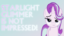 Size: 1600x900 | Tagged: artist:elhombre1994, artist:sailortrekkie92, looking at you, not impressed, safe, solo, starlight glimmer, vector, wallpaper