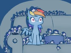 Size: 976x726 | Tagged: safe, artist:raridashdoodles, rainbow dash, rarity, pegasus, pony, unicorn, :<, :>, :c, :d, :o, c:, chibi, commonity, couch, cute, dashabetes, derail in the comments, eating, eyes closed, female, food, lesbian, mare, micro, movie, multeity, no mouth, open mouth, ponies in food, popcorn, raribetes, raridash, rarimouse, shipping, sitting, size difference, smiling, spread wings, this is fine, tiny ponies, wat, wide eyes