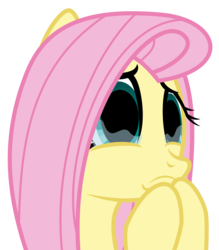 Size: 4632x5277 | Tagged: safe, artist:masem, edit, editor:pontology, fluttershy, absurd resolution, big eyes, crying, cute, empty eyes, female, no catchlights, shyabetes, simple background, solo, transparent background, vector