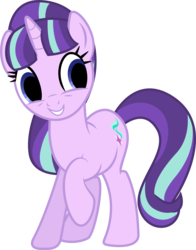 Size: 3416x4368 | Tagged: safe, artist:illumnious, edit, editor:pontology, starlight glimmer, pony, unicorn, adoracreepy, creepy, cute, dead eyes, empty eyes, female, glimmerbetes, mare, no catchlights, raised hoof, simple background, smiling, solo, transparent background, vector