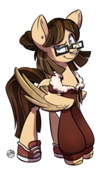 Size: 898x1564 | Tagged: safe, artist:askgraphitesketch, oc, oc only, pegasus, pony, clothes, converse, nose piercing, nose ring, piercing, shoes, sneakers, solo, sweater