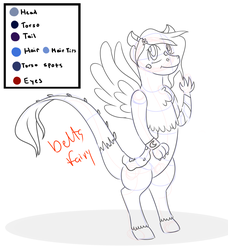 Size: 1967x2160 | Tagged: safe, artist:deltafairy, oc, oc only, draconequus, hybrid, adoptable, breedable, commission, custom, finished commission, interspecies offspring, irl, offspring, parent:discord, parent:princess luna, parents:lunacord, photo, reference sheet, sketch, solo, toy