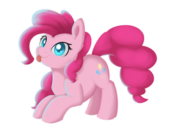 Size: 1024x772 | Tagged: safe, artist:dusthiel, pinkie pie, female, solo, tongue out