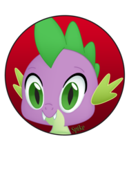 Size: 600x803 | Tagged: safe, artist:brittanysdesigns, spike, bust, button, portrait, solo