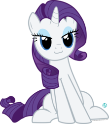 Size: 1500x1699   Tagged: safe, artist:arifproject, rarity, pony, :3, cute, lidded eyes, raribetes, simple background, sitting, sitting catface meme, solo, transparent background, vector
