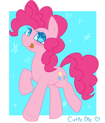 Size: 1200x1400 | Tagged: safe, artist:php54, pinkie pie, female, solo, stars, tongue out, wingding eyes