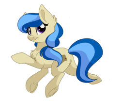 Size: 1024x853 | Tagged: safe, artist:itstaylor-made, oc, oc only, oc:sandy rivers, earth pony, pony, chest fluff, ponytail, simple background, solo, transparent background