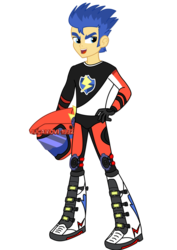 Size: 1600x2263   Tagged: safe, artist:jucamovi1992, flash sentry, equestria girls, friendship games, male, motocross outfit, motorcross, outfit, simple background, solo, transparent background, vector, watermark