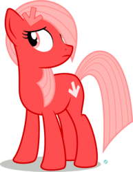 Size: 1495x1937 | Tagged: artist:arifproject, derpibooru, derpibooru ponified, looking back, meta, oc, oc:downvote, oc only, ponified, pony, safe, simple background, solo, transparent background, vector