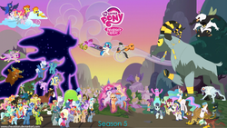 Size: 1024x577 | Tagged: alicorn, angel bunny, apple bloom, applejack, arimaspi, artist:chevistian, berry punch, berryshine, big macintosh, bittersweet (character), bon bon, booksmart, braeburn, bugbear, bulk biceps, calf, clear skies, cloud, cloven hooves, coco pommel, coloratura, crossdressing, cutie mark, cutie mark crusaders, derpy hooves, diamond tiara, discord, dj pon-3, doctor whooves, double diamond, draconequus, dragon, dragons riding ponies, earth pony, edit, ethereal mane, female, fluffy clouds, fluttershy, gilda, greta, griffon, honey lemon, horn ring, leadwing, lemon hearts, lily, lily valley, limestone pie, lyra heartstrings, male, mane six, marble pie, march gustysnows, mare, maud pie, max raid, minuette, moondancer, moondancer's sister, morning roast, my little pony logo, night glider, oc, octavia melody, open skies, orchard blossom, party favor, pegasus, pest control pony, pinkie pie, pony, prince rutherford, princess cadance, princess celestia, princess luna, rainbow dash, rarity, riding, safe, sassy saddles, scootaloo, season 5, sheriff silverstar, shining armor, silver spoon, smooze, spike, spitfire, spoiled rich, stallion, standing on cloud, starlight glimmer, stormy flare, sugar belle, sunshower, sweetie belle, sweetie drops, tantabus, the cmc's cutie marks, time turner, tree hugger, tropical dream, troubleshoes clyde, twilight sparkle, twilight sparkle (alicorn), twinkleshine, twittermite, unicorn, vinyl scratch, wacky waving inflatable tube pony, wall of tags, whoa nelly, yak, yak calf, yeti