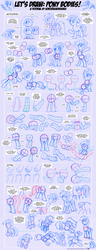 Size: 1248x3263 | Tagged: safe, artist:sorcerushorserus, applejack, fluttershy, gilda, pinkie pie, rainbow dash, rarity, twilight sparkle, griffon, anatomy, how to draw, mane six, sketch, tutorial