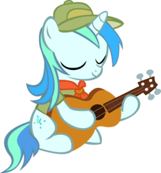 Size: 10751x11582 | Tagged: safe, artist:cyanlightning, oc, oc only, oc:cyan lightning, .svg available, absurd resolution, clothes, cutie mark, guitar, hat, simple background, solo, transparent background, vector