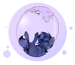 Size: 2413x2086   Tagged: safe, artist:marsminer, oc, oc only, oc:chuu, oc:starlight blossom, goo pony, original species, bubble
