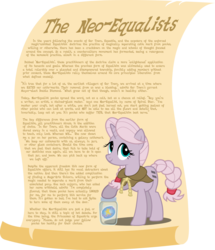 Size: 1435x1667 | Tagged: article, cloak, clothes, cutie mark, equal, equality, implied starlight glimmer, jar, oc, oc only, oc:spiral star, safe, scroll, simple background, solo, source needed, text, transparent background, vector