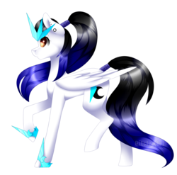 Size: 1024x1012   Tagged: safe, artist:itsizzybel, oc, oc only, oc:cyan crystal, pegasus, pony, simple background, solo, transparent background