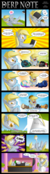 Size: 1500x5194 | Tagged: safe, artist:berrypawnch, derpy hooves, discord, king sombra, princess celestia, princess luna, queen chrysalis, ghost, pegasus, pony, accidental suicide, angel, casket, comic, cute, dark comedy, dead, death, death note, female, funeral, heart attack, mare, muffin queen, on back, stupidity, too dumb to live, x eyes