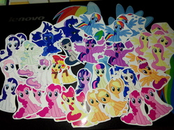 Size: 2560x1920 | Tagged: safe, apple bloom, applejack, bon bon, dj pon-3, fluttershy, nurse redheart, octavia melody, pinkie pie, princess luna, rarity, scootaloo, starlight glimmer, sunset shimmer, sweetie belle, sweetie drops, twilight sparkle, vapor trail, vinyl scratch, alicorn, earth pony, pony, :3, calendar of lunas, clothes, commonity, cookie, cute, dashstorm, female, food, irl, jackletree, lidded eyes, mare, meme, mouth hold, multeity, photo, s1 luna, scarf, sitting, sitting catface meme, so much flutter, sparkle sparkle sparkle, spread wings, sticker, too much pink energy is dangerous, twilight sparkle (alicorn)