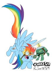 Size: 1024x1453 | Tagged: safe, artist:cattensu, rainbow dash, tank, flying, goggles, simple background, transparent background