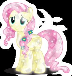 Size: 3951x4183   Tagged: safe, artist:infinitewarlock, fluttershy, crystal pony, pony, crystallized, female, simple background, solo, transparent background