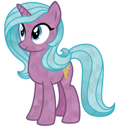 Size: 2800x3000 | Tagged: safe, artist:cheezedoodle96, derpibooru exclusive, radiant hope, crystal pony, pony, unicorn, idw, crystallized, female, idw showified, inkscape, mare, simple background, solo, transparent background, vector