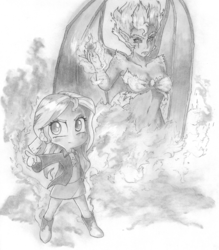 Size: 2376x2712 | Tagged: armpits, artist:cross_ornstein, badass, badass adorable, belly button, boots, chibi, clothes, cute, equestria girls, fire, grayscale, jacket, jojo's bizarre adventure, leather jacket, monochrome, safe, shimmerbetes, skirt, stand, sunset satan, sunset shimmer, traditional art