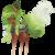 Size: 1705x1712 | Tagged: safe, artist:bonniebatman, oc, oc only, original species, pond pony, eyes closed, simple background, solo, transparent background