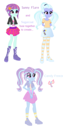 Size: 600x1200 | Tagged: safe, artist:berrypunchrules, sugarcoat, sunny flare, equestria girls, fusion, multiple arms, multiple eyes