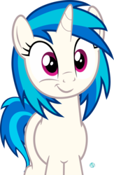 Size: 1827x2810   Tagged: safe, artist:arifproject, dj pon-3, vinyl scratch, pony, unicorn, :t, cute, female, horn, looking at you, mare, simple background, smiling, smirk, smirk pone collection, solo, transparent background, vector, vinylbetes