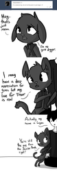 Size: 1800x5400 | Tagged: safe, artist:tjpones, oc, oc only, oc:didi, oc:logan nottrevor, diamond dog, human, horse wife, blatant lies, comic, dialogue, diamond dog oc, ear fluff, floppy ears, gold digger, grayscale, human male, male, monochrome, simple background, subtle as a train wreck, white background
