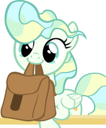 Size: 2582x3105 | Tagged: safe, artist:ironm17, vapor trail, to where and back again, top bolt, bag, cute, mouth hold, saddle bag, simple background, smiling, solo, to saddlebags and back again, transparent background, vaporbetes, vector