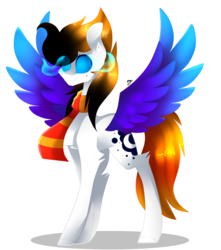 Size: 2729x3081 | Tagged: safe, artist:huirou, oc, oc only, pegasus, pony, glowing eyes, simple background, solo, transparent background