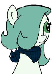 Size: 414x576 | Tagged: safe, artist:ficficponyfic, color edit, edit, oc, oc only, oc:emerald jewel, earth pony, pony, colt quest, bandana, child, color, colored, colt, concerned, foal, frown, hair over one eye, male, simple background, solo, transparent background, worried