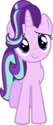 Size: 786x1857 | Tagged: safe, artist:rustle-rose, starlight glimmer, pony, unicorn, to where and back again, cute, female, glimmerbetes, looking at you, mare, simple background, smiling, solo, transparent background, vector