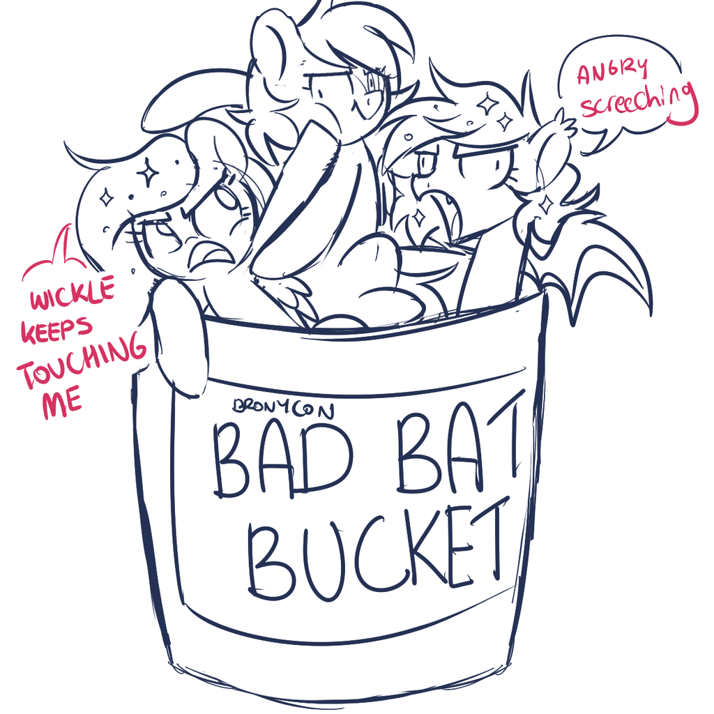1291731 - artist:taesuga, bad bat bucket, bat bucket, bat pony ...