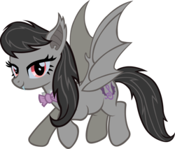 Size: 3000x2554   Tagged: safe, artist:doctor-g, octavia melody, bat pony, pony, alternate cutie mark, bat ponified, batavia, fangs, race swap, simple background, solo, spread wings, transparent background, vector