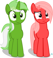 Size: 2000x2202 | Tagged: artist:arifproject, derpibooru, derpibooru ponified, earth pony, frown, looking at you, meta, oc, oc:downvote, oc only, oc:upvote, ponified, pony, safe, simple background, smiling, smirk pone collection, transparent background, varying degrees of want, vector