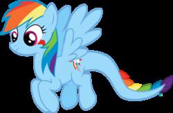 Size: 2550x1664 | Tagged: safe, artist:arifproject, rainbow dash, monster pony, original species, tatzlpony, flying, simple background, smiling, solo, tatzldash, transparent background, vector