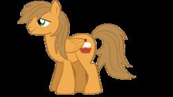 Size: 1280x720   Tagged: safe, artist:jbond, oc, oc only, oc:jacky breeze, pegasus, pony, 2017 community collab, derpibooru community collaboration, lidded eyes, male, simple background, smiling, solo, stallion, transparent background