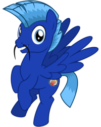 Size: 2400x3000   Tagged: safe, artist:cheezedoodle96, derpibooru exclusive, oc, oc only, oc:sportifli, pegasus, pony, 2017 community collab, derpibooru community collaboration, .svg available, flying, lazytown, looking at you, male, simple background, smiling, solo, sportacus, stallion, svg, transparent background, vector