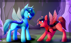 Size: 1280x773 | Tagged: safe, artist:fatcakes, oc, oc only, changedling, changeling, to where and back again, changeling oc