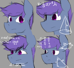 Size: 1280x1181 | Tagged: annoyed, artist:noxyponi, confused, explicit source, male, math, math lady meme, meme, oc, oc only, oc:windy dripper, reaction, safe, solo