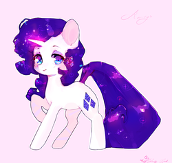 Size: 1280x1214 | Tagged: safe, artist:wallywind, rarity, pony, unicorn, female, glowing horn, horn, mare, raised hoof, signature, simple background, solo