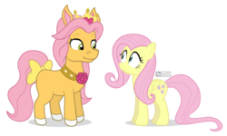 Size: 1000x600   Tagged: safe, artist:dm29, fluttershy, pony, bow, duo, petite, tail bow