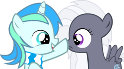 Size: 15029x8340 | Tagged: safe, artist:cyanlightning, oc, oc only, oc:aureai gray, oc:cyan lightning, pegasus, pony, unicorn, .svg available, absurd resolution, boop, clothes, colt, cute, female, filly, male, ocbetes, scarf, simple background, transparent background, vector
