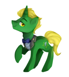 Size: 1096x1224 | Tagged: safe, artist:goshhhh, oc, oc only, oc:emerald scroll, pony, unicorn, 2017 community collab, derpibooru community collaboration, simple background, solo, transparent background