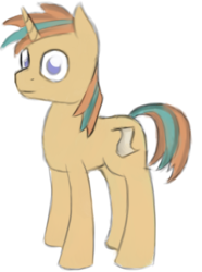 Size: 1249x1681 | Tagged: safe, artist:itsthinking, oc, oc only, oc:itsthinking, pony, unicorn, 2017 community collab, derpibooru community collaboration, looking at you, male, simple background, smiling, solo, stallion, transparent background