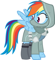 Size: 10766x11640 | Tagged: safe, artist:cyanlightning, rainbow dash, dungeons and discords, .svg available, absurd resolution, clothes, mask, rainbow rogue, simple background, solo, transparent background, vector