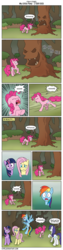 Size: 860x3438 | Tagged: safe, artist:icyfie, fluttershy, pinkie pie, rainbow dash, rarity, twilight sparkle, friendship is magic, alternate ending, bad end, laughter song, screaming, stray stories, tree
